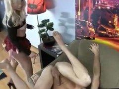 Blonde Hottie Strap-ON fucks sub GUY
