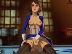 Elizabeth gets fucked hard in every hole - Bioshock Intimiate Gameplay