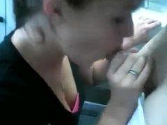 Blowjob in russian train. swallow cum