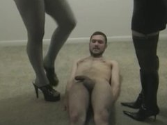 Ballerina trample torture and cock crush