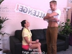 Denis Reed show to big pornstar Mea Melone how to fuck her tight pussy