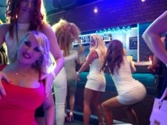 Rich babes of porn licking their twats in public