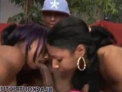 Ebony Double Blowjob