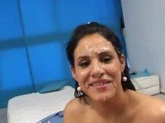 Maia Toscani covered in cum