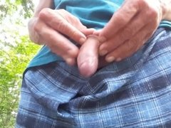 Outside foreskin piss #4