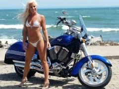 Melissa Hardbody Motorcycle String Bikini Ass Show.