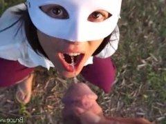 Morgan swallows piss 2