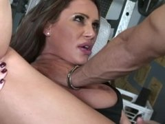 Cheating Wife With Huge Tits Gets Throat Fucked By Trainer