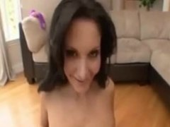 Pretty porn model in intense blowjob sexxion.