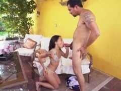 Faith's mom and compeer's daughter on table hot step tied dad uses