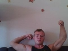 Teenage Muscular Teen Jock Bicep Flexing - Worship my Biceps Muscle Worship