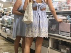 Creeping on a cute 19yr old back to school shopping with mom