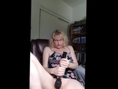 Clit massage with my black hitachi