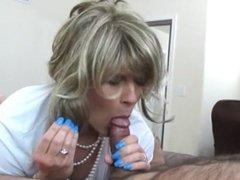 Samantha Nylons sucking and fucking