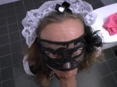 She knows how to clean a dirty cock