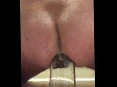 Big bottle in ass