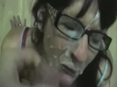Huge facial on glasses
