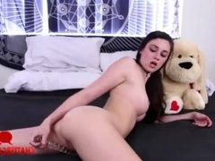 Hot Horny Babe Plays With Her Anal Toy