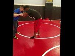 Interracial wrestling match part #1