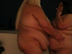Naked BBWs Smoking