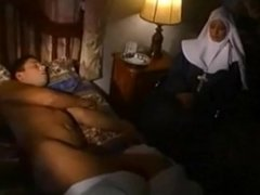 Nun takes dick to her ass
