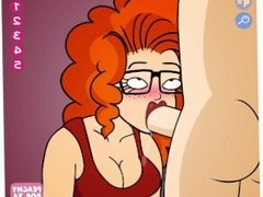 Cute red head babe gives a hot blowjob - Red Head Blowjob Gameplay