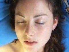 Cute Teen Masturbates - facial expression