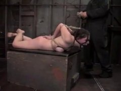 Hogtied, ballgagged and abused