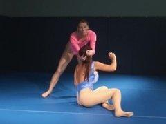 Ariel X vs Goldie Best of 5 KO Spandex catfight