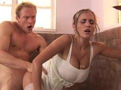 Blonde Big Tit Step Mom Cheats On Her Husband