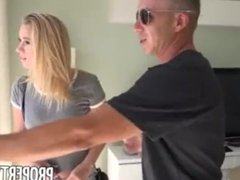 Horny blonde cheats on her boyfriend with real estate agent