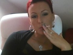 Cherienoir Domina Mistress Smoking melk dirty talk GERMAN 5