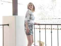 Brea FTV Upskirt & Showing her´s pretty thong