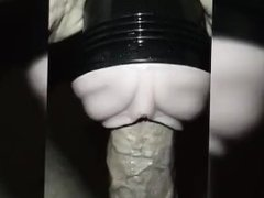 Breaking in the new fleshlight with my thick hard cock.