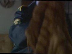Policewoman in fur coat from danish tv series