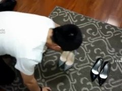 chinese foot worship-foot slave trainning