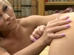 Blonde hottie eats her friends juicy cunt in hot lesbian action