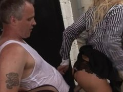Big Tit Office Sluts Come Back And Fuck Car Detailers Huge Cock