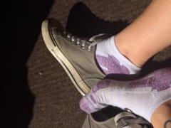 POV ankle sock converse play/ ELEXANDRIALEE cute teen socks/ sock fetish