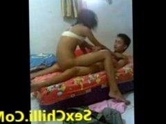 Amateur indian Lovers Fuck At Home Alone