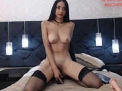 Latin girl very horny live orgasm and squirt using her toys