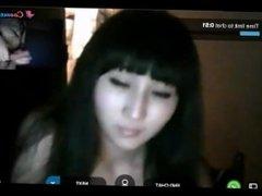 Reacciones de nenas al ver mi polla en la web cam 2. Corrida al final