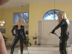 Two Mistress spanked a Slave