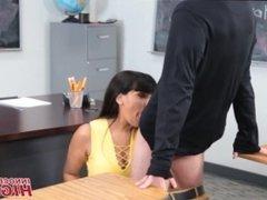 Hot MILF High School Teacher Mercedes Carrera Fucks Nerdy Student