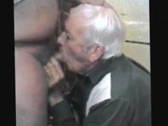 Old grandpa eat cum's bear
