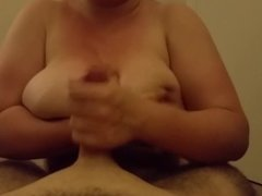 Tit wank from college girlfriend