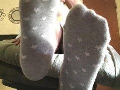 Mistress D grey socks