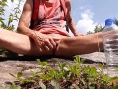 Piss play on a rock #1