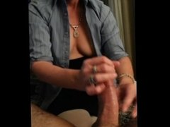 blowing and playing with my cock