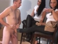 slave humiliated by sexy mistress with boots femdom